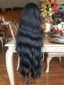 Black Straight Bodywave Wig - Goddess Beauty Royal Wigs