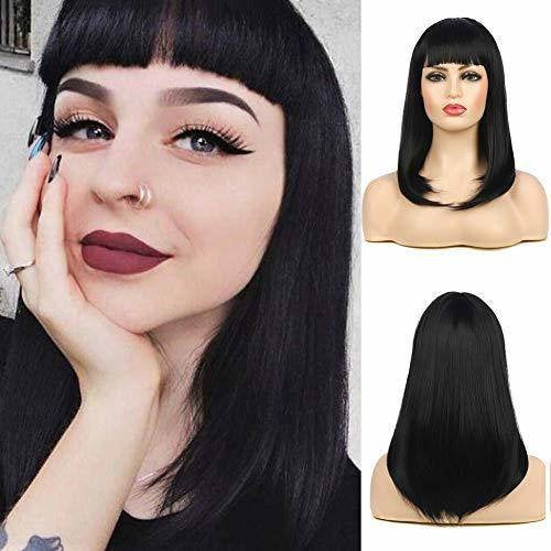 Black Straight Bob Beauty Full Wig - Goddess Beauty Royal Wigs