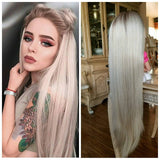 Ombre Blonde Beauty Waves Lace Front Wig - Goddess Beauty Royal Wigs