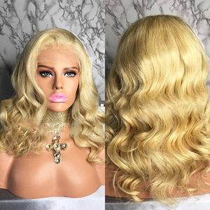 Human Hair/ Lace Front Wigs// Blonde//Long Hair// Straight// Curly// Brazilian Remy// Wig// Glueless Lacewig//Natural - Goddess Beauty Royal Wigs
