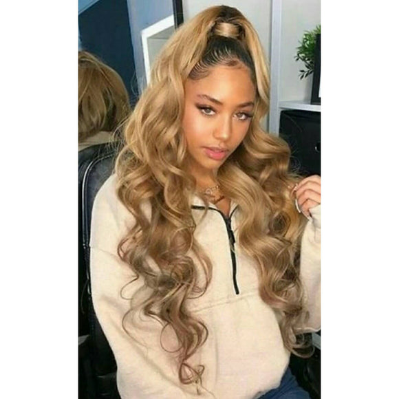Ombre Blonde// Beauty Waves// Virgin// Human Hair// Lace Front Wig//Custom Order//4-8 weeks// - Goddess Beauty Royal Wigs