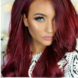 Dark Red//Wavy// Lace Front Wig//Beautiful - Goddess Beauty Royal Wigs