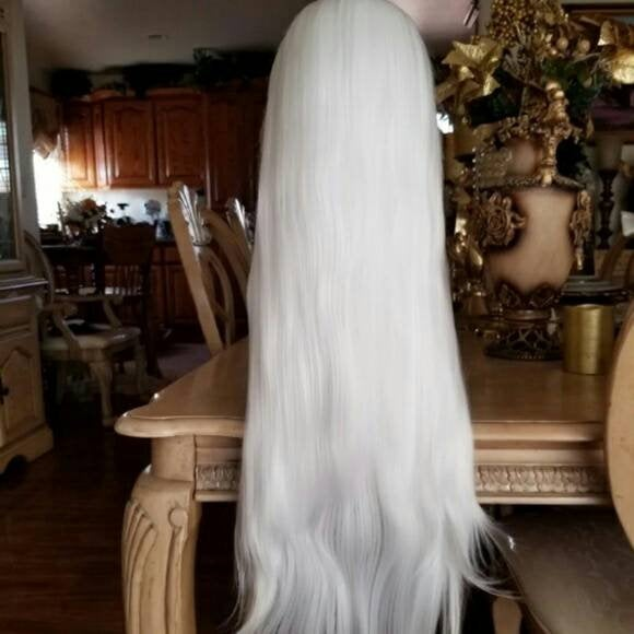 White//Straight// Lace Front Wig//Beautiful - Goddess Beauty Royal Wigs