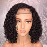 Black//Curly// Human Hair/ Lace Front Wigs// Beautiful// Curly// Brazilian Remy//Wig//Glueless// Lacewig//13x6//Natural - Goddess Beauty Royal Wigs