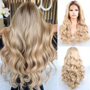 Ombre Blonde//Wavy// Lace Front Wig//Beautiful//Wig - Goddess Beauty Royal Wigs