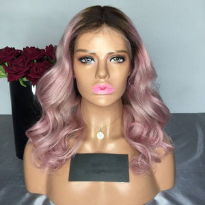 Ombre Pink Beauty Lace Front Wig - Goddess Beauty Royal Wigs
