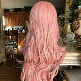 Peach Pink Beauty Lace Front Wig - Goddess Beauty Royal Wigs