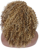 Brown Blonde Afro Kinky Curly Full Wig - Goddess Beauty Royal Wigs
