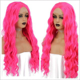 Dark Pink Beauty Lace Front Wig - Goddess Beauty Royal Wigs
