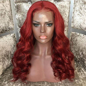 Copper Red// Beauty Waves//Lace Front Wig//100% Human Hair//Wig - Goddess Beauty Royal Wigs