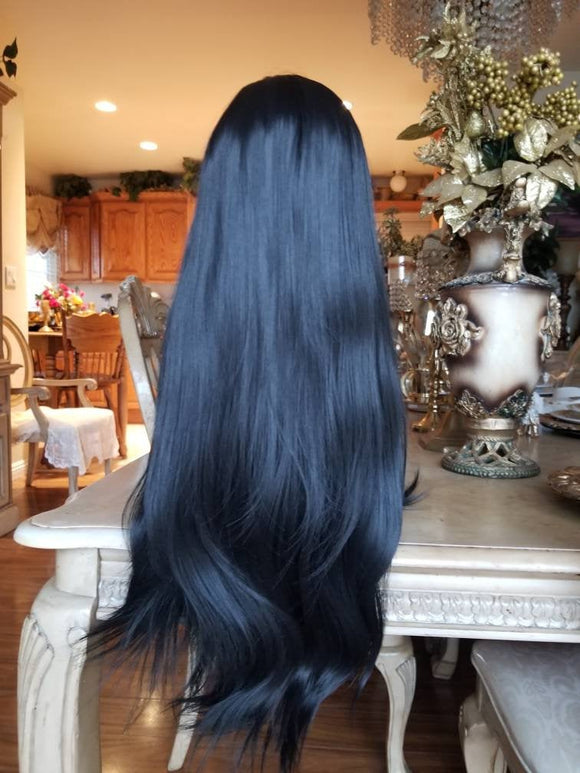 Black Straight Beauty Full Wig - Goddess Beauty Royal Wigs