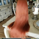 Red Copper//Straight// Lace Front Wig//Beautiful//Wig - Goddess Beauty Royal Wigs
