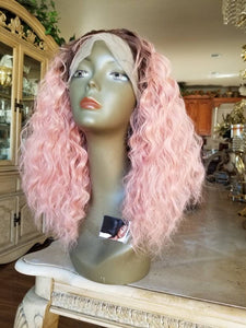 Ready to Ship//Ombre Pink Beauty// Lace Front Wig - Goddess Beauty Royal Wigs