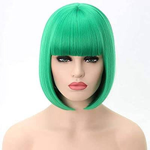 Grass Green Straight Bob Beauty Full Wig - Goddess Beauty Royal Wigs