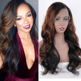 Ombre Human Hair Wig// Body Wave Ombre Brazilian// 150% Density - Goddess Beauty Royal Wigs