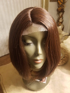 Bob Beauty Lace Front Wig Brow Red - Goddess Beauty Royal Wigs