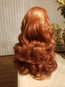 Copper Red// Beauty Waves//Lace Front Wig//Goddess//Beauty//Wig//Auburn - Goddess Beauty Royal Wigs
