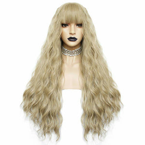 Blonde Wavy Beauty Full Wig 28 inches long - Goddess Beauty Royal Wigs