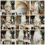 Ash Blonde Wavy Lace Front Wig//Honey Blonde - Goddess Beauty Royal Wigs
