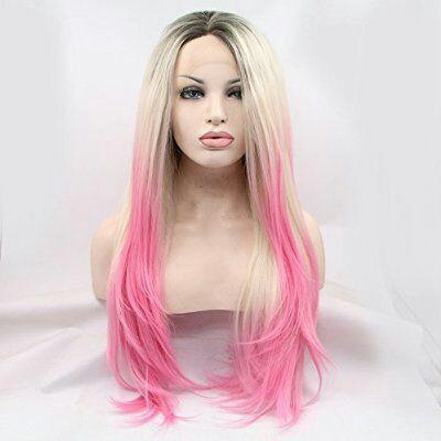 Blonde Ombre Pink Lace Front Wig - Goddess Beauty Royal Wigs