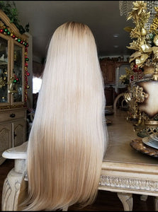 Ombre Blonde Beauty Lace Front Wig 20-22 inches!! - Goddess Beauty Royal Wigs