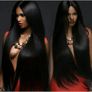 Black Full Head Clip In Extension!! - Goddess Beauty Royal Wigs