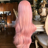 Pink Peach Beauty Lace Front Wig - Goddess Beauty Royal Wigs