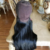 Black Layered Bodywave Beauty Lace Front Wig 24-28 inches!! - Goddess Beauty Royal Wigs