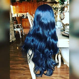 Black Loose Bodywave Lace Front Wig - Goddess Beauty Royal Wigs