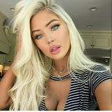 Blonde Beauty Waves Virgin Human Hair Lace Front Wig - Goddess Beauty Royal Wigs