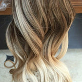 Ombre Blonde Full Head Clip in Extension - Goddess Beauty Royal Wigs