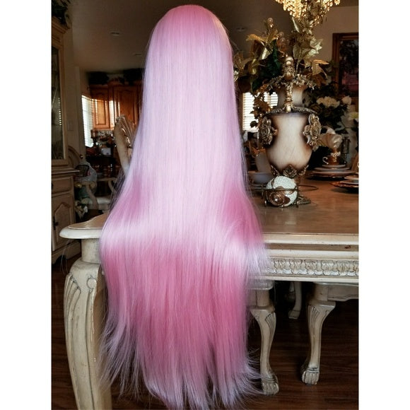 Pink Beauty Lace Front Wig 24-28 inches!! - Goddess Beauty Royal Wigs