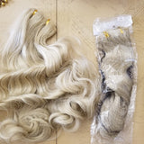 Wavy Blonde mix #24H613 Full Head Clip in Extension - Goddess Beauty Royal Wigs