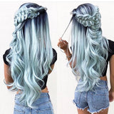 Ombre Blue Beauty Lace Front Wig 24-28 inches!! - Goddess Beauty Royal Wigs