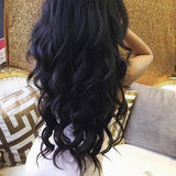 Black Full Head Clip in Extension - Goddess Beauty Royal Wigs
