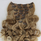 Ombre Blonde Beauty Full Head Clip in Extension - Goddess Beauty Royal Wigs