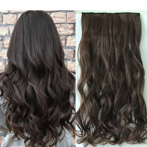 Brown Full Head Clip in Extension - Goddess Beauty Royal Wigs