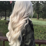 Pale Blonde Full Head Clip in Extension #60 - Goddess Beauty Royal Wigs