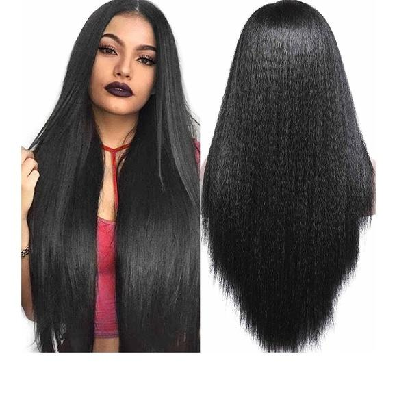 Kinky Yaki Lace Front Wig 24-26 inches - Goddess Beauty Royal Wigs