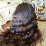 Ombre Brownish Lace Front Wig - Goddess Beauty Royal Wigs