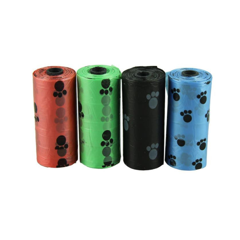 10 Rolls = 150 Pcs - Degradable Pet Dog Waste / Poop Bag paw pattern | Dog Accessories