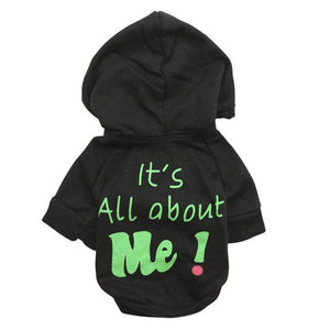 It's All About Me! Winter Hooded Dog Jumper | Dog Clothes