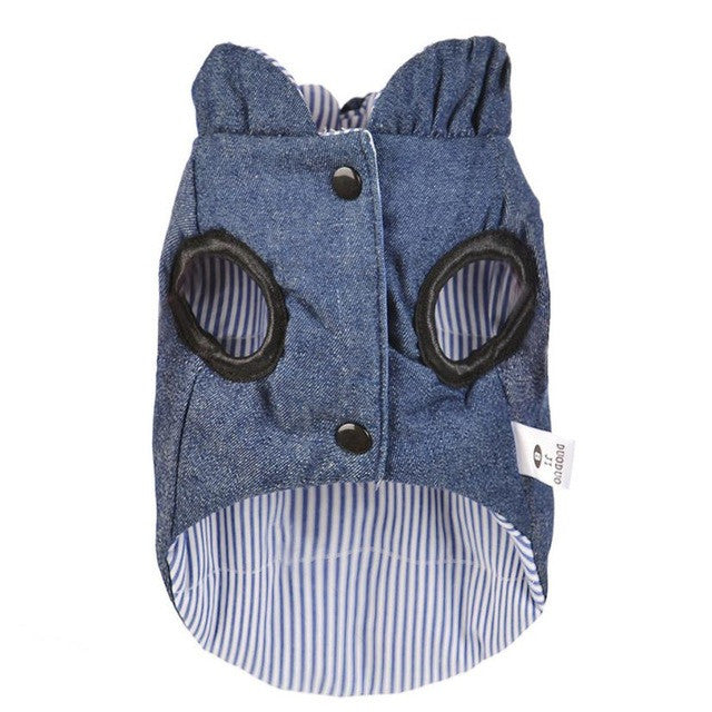 Double-Sided Dog Coat / Jacket in Blue | Dog Clothes