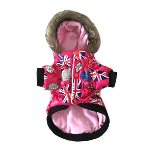 Waterproof Dog Coat with Flag Design | Dog Clothes