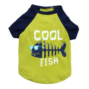 Cool Fish Dog Shirt | Dog Clothes