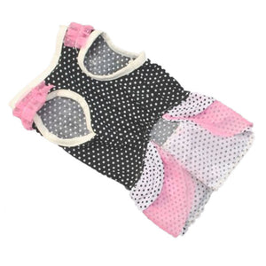 Dog Dress with Dot Design in Black or White | Dog Clothes