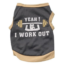 YEAH! I Work Out - Novelty cotton Vest / Shirt for dogs - Dog Clothes