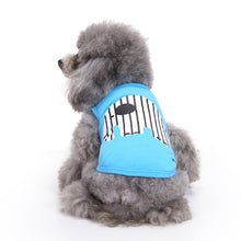Blue Dog Shirt with Elephant print | Dog Clothes