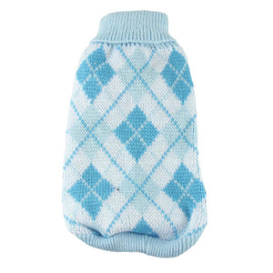 Winter Diamond Cross Pattern Dog Jumper | Dog Clothes