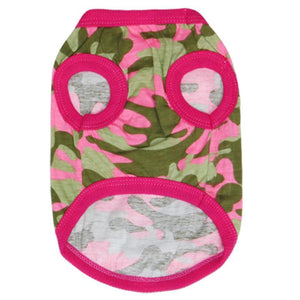 Dogs Pink Camouflage Shirt / Vest | Dog Clothes
